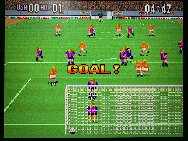 スーパーフォーメーションサッカープレイ画像(スーパーファミコンクラシックミニ)