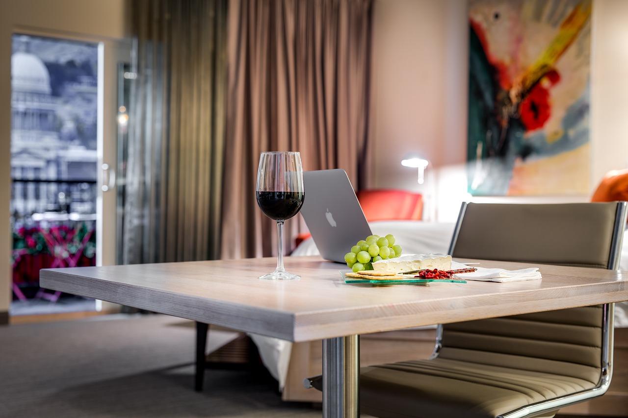 Macbookとワイン