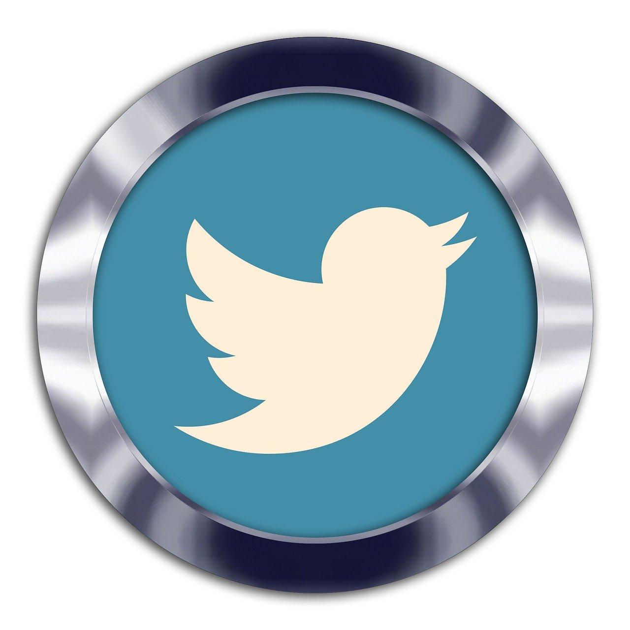 Twitterのロゴが書いたメダル