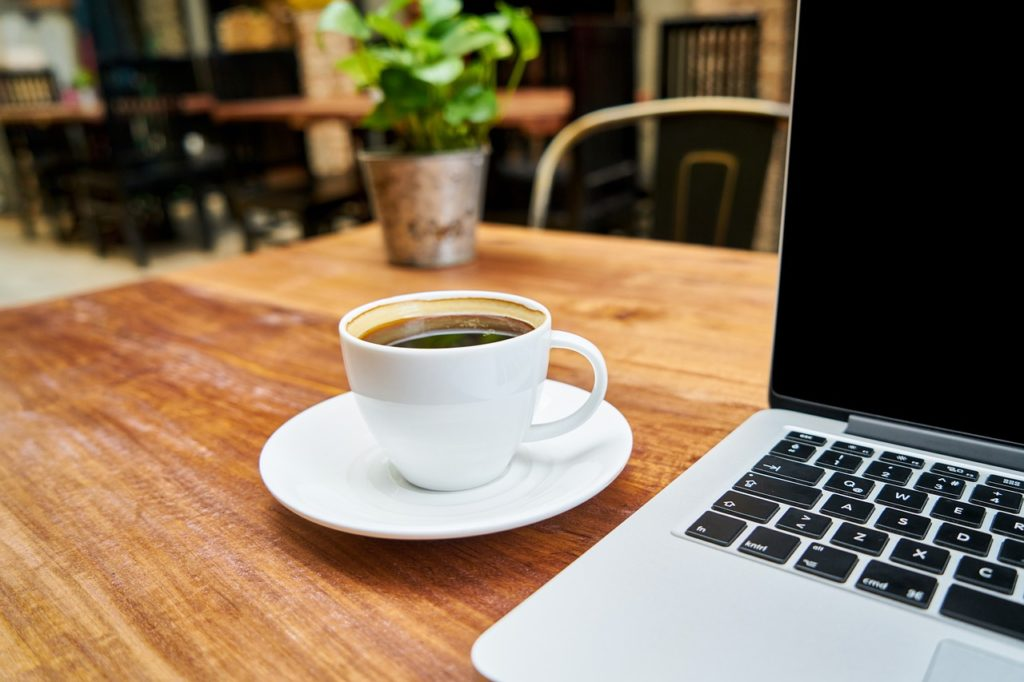 珈琲とパソコン