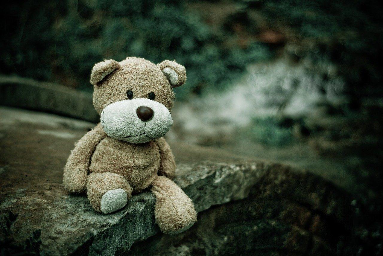かわいい熊のぬいぐるみ