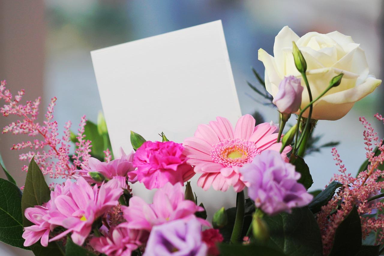 花に添えたメッセージ