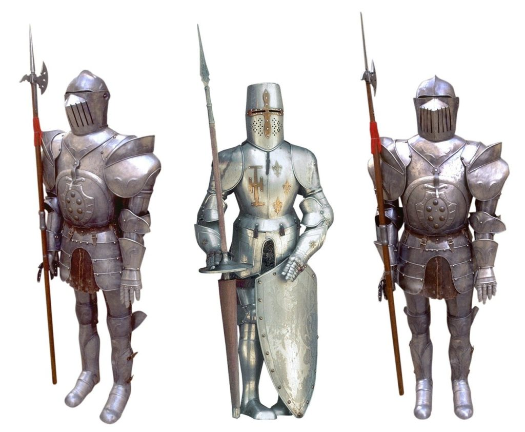 鎧防具で完全装備した兵士