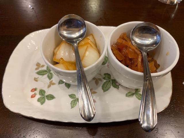 荻窪トマトの玉葱と福神漬け