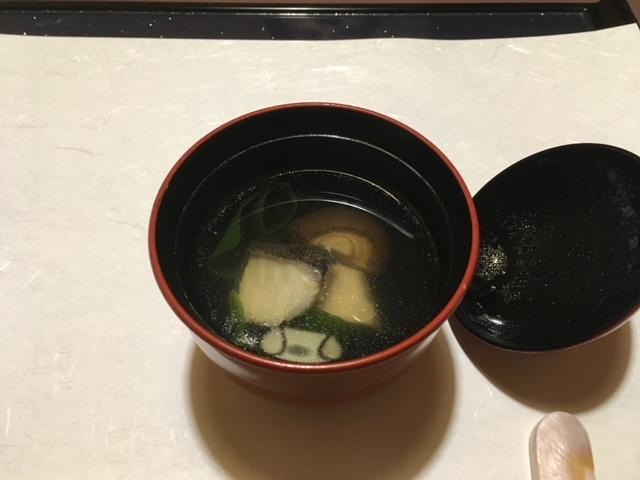 平目と海老芋の潮椀