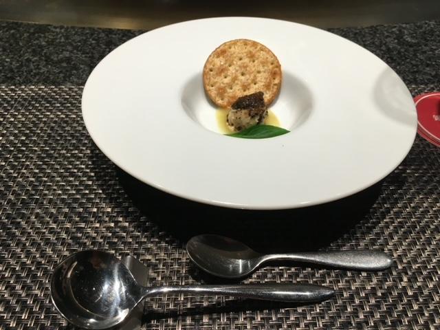 銀座のステーキコース料理前菜
